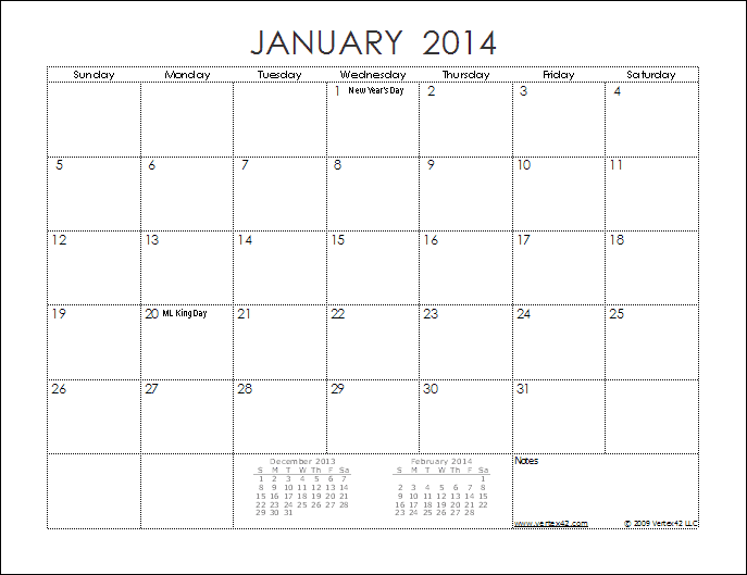 12 Month Calendar 2014 Printable | Car Interior Design