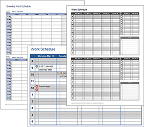 Work Schedule Templates