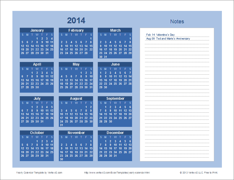 2015 yearly calendar template in landscape format - 2015 calendar excel template vacation