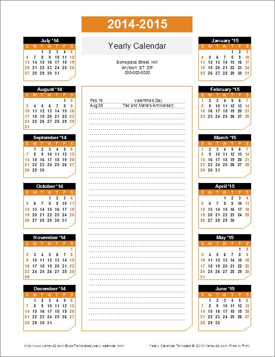 School Year Calendar 2014 2015