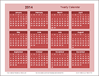 Yearly Calendar Template (Bold theme)