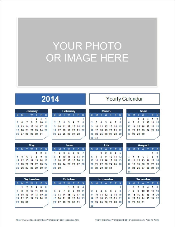 Xlsx Year Calendar : Yearly calendar template for and beyond