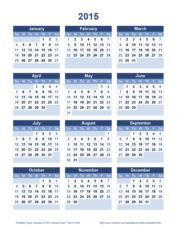 "Calendar Templates By Vertex : Search results for ""vertex calendars free printable"