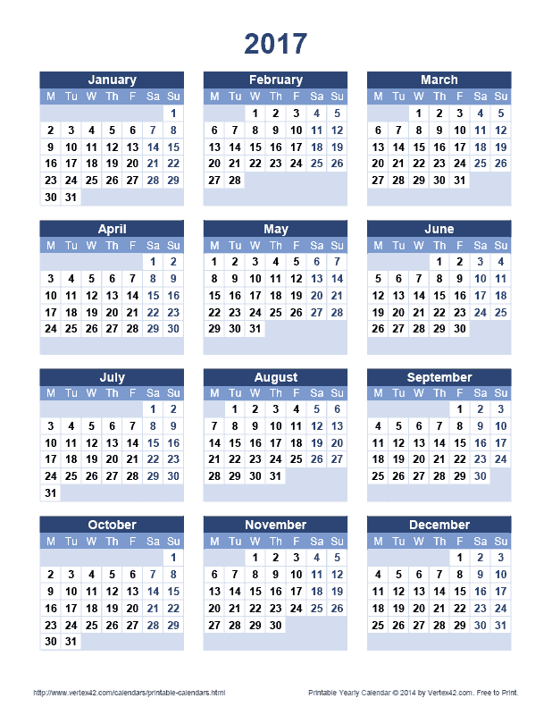 618 x 800 png 18kB, Download the Printable 2017 Yearly Calendar