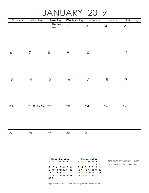 monday through friday calendar template