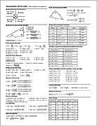 Trigonometry Summary Sheet